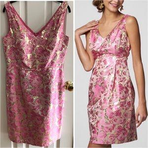 Lilly Pulitzer Kiki metallic silk jacquard dress